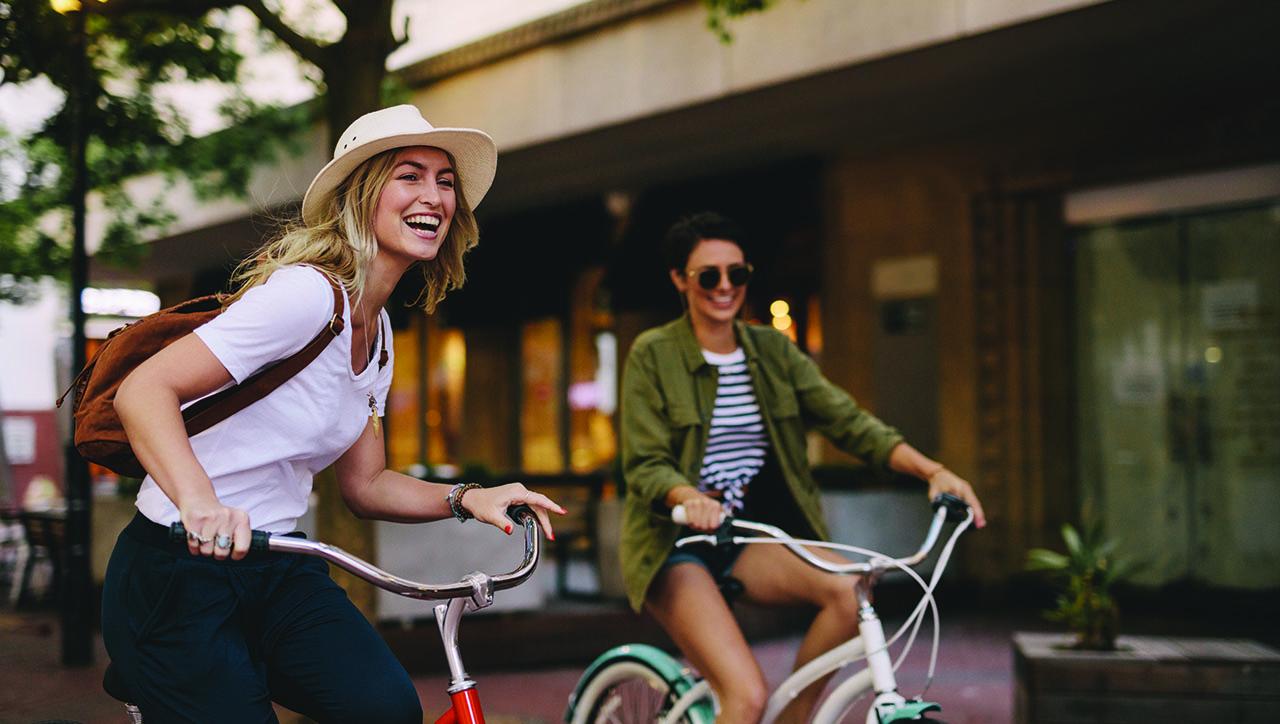 bike riding girls